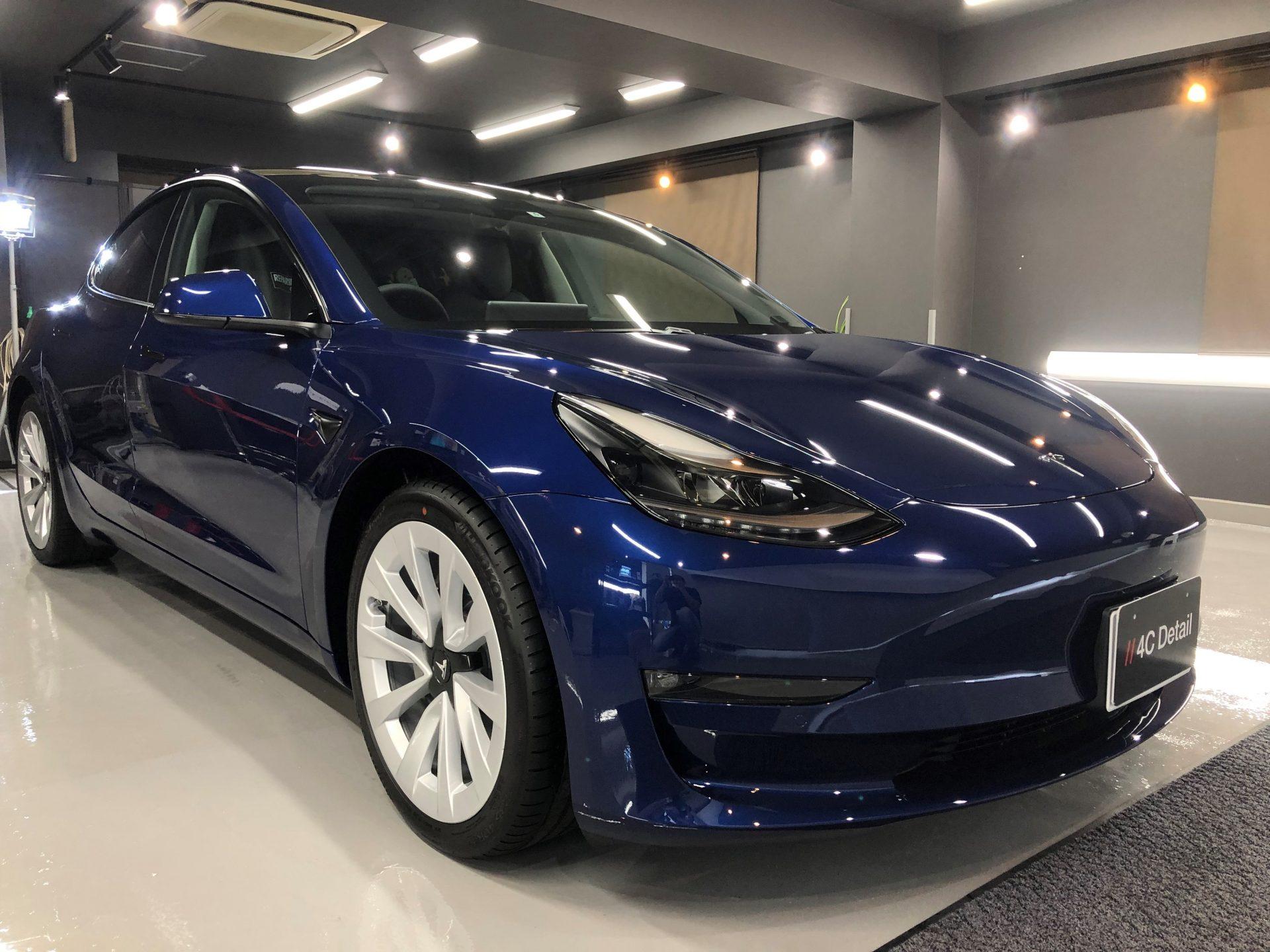 新車テスラ モデル3 最上級自己修復機能付セラミックコーティング FEYNLABヒールプラス 横浜市港北区